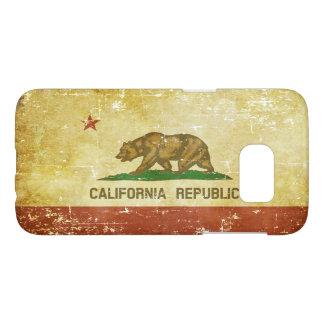 Worn Patriotic California State Flag Samsung Galaxy S7 Case