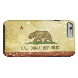 Worn Patriotic California State Flag Tough iPhone 6 Case