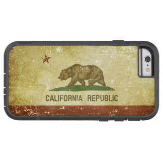 Worn Patriotic California State Flag Tough Xtreme iPhone 6 Case