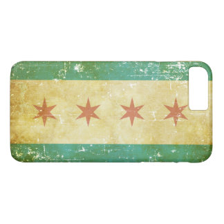 Worn Patriotic Chicago Flag Case-Mate iPhone Case