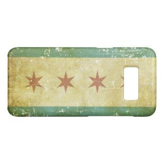 Worn Patriotic Chicago Flag Case-Mate Samsung Galaxy S8 Case