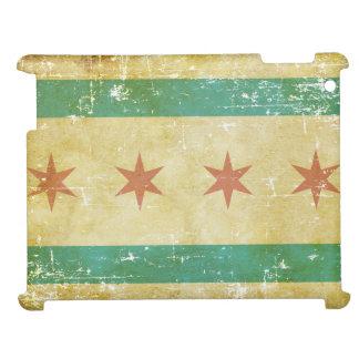 Worn Patriotic Chicago Flag iPad Case