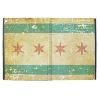 """Worn Patriotic Chicago Flag iPad Pro 12.9"""" Case"""