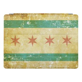 Worn Patriotic Chicago Flag iPad Pro Cover