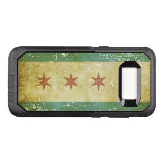 Worn Patriotic Chicago Flag OtterBox Commuter Samsung Galaxy S8 Case