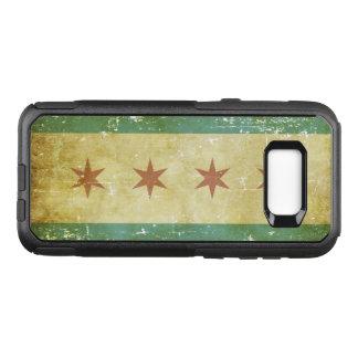 Worn Patriotic Chicago Flag OtterBox Commuter Samsung Galaxy S8+ Case