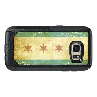 Worn Patriotic Chicago Flag OtterBox Samsung Galaxy S7 Case