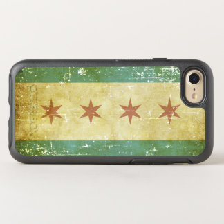 Worn Patriotic Chicago Flag OtterBox Symmetry iPhone 8/7 Case