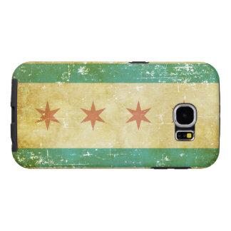 Worn Patriotic Chicago Flag Samsung Galaxy S6 Cases