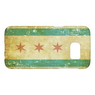 Worn Patriotic Chicago Flag Samsung Galaxy S7 Case