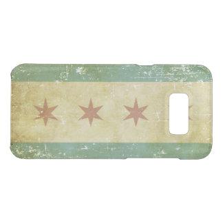 Worn Patriotic Chicago Flag Uncommon Samsung Galaxy S8 Plus Case