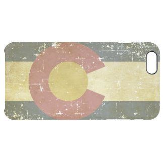 Worn Patriotic Colorado State Flag Clear iPhone 6 Plus Case