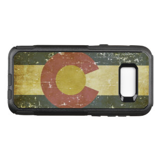 Worn Patriotic Colorado State Flag OtterBox Commuter Samsung Galaxy S8+ Case