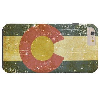 Worn Patriotic Colorado State Flag Tough iPhone 6 Plus Case