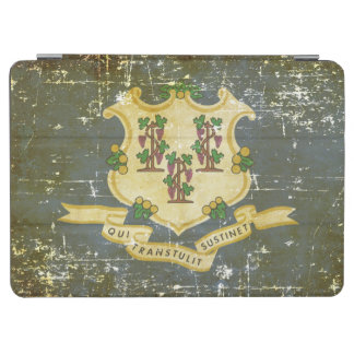 Worn Patriotic Connecticut State Flag iPad Air Cover