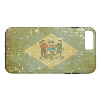 Worn Patriotic Delaware State Flag Case-Mate iPhone Case