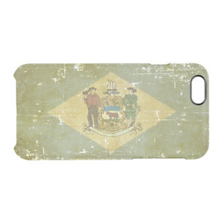 Worn Patriotic Delaware State Flag Clear iPhone 6/6S Case