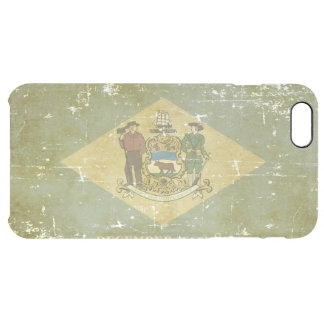 Worn Patriotic Delaware State Flag Clear iPhone 6 Plus Case