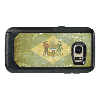 Worn Patriotic Delaware State Flag OtterBox Samsung Galaxy S7 Case