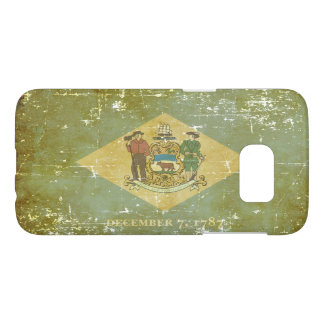 Worn Patriotic Delaware State Flag Samsung Galaxy S7 Case