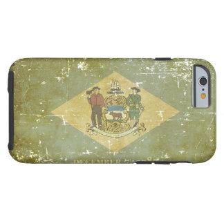 Worn Patriotic Delaware State Flag Tough iPhone 6 Case