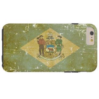 Worn Patriotic Delaware State Flag Tough iPhone 6 Plus Case