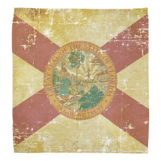 Worn Patriotic Florida State Flag Bandana