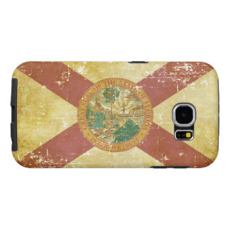 Worn Patriotic Florida State Flag Samsung Galaxy S6 Cases