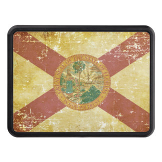 Worn Patriotic Florida State Flag Trailer Hitch Cover