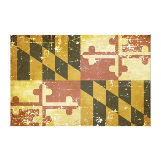 Worn Patriotic Maryland State Flag Canvas Print