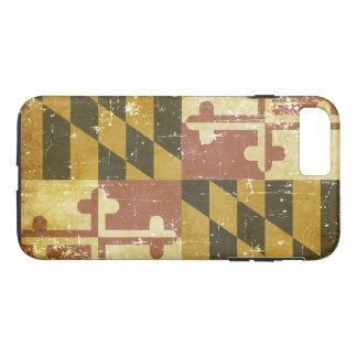 Worn Patriotic Maryland State Flag Case-Mate iPhone Case