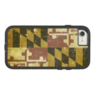 Worn Patriotic Maryland State Flag Case-Mate Tough Extreme iPhone 8/7 Case