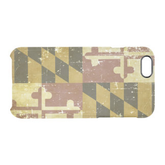 Worn Patriotic Maryland State Flag Clear iPhone 6/6S Case