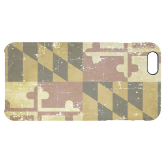 Worn Patriotic Maryland State Flag Clear iPhone 6 Plus Case