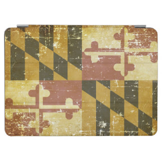 Worn Patriotic Maryland State Flag iPad Air Cover