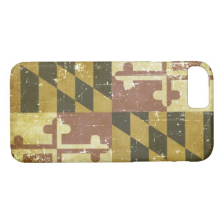 Worn Patriotic Maryland State Flag iPhone 8/7 Case