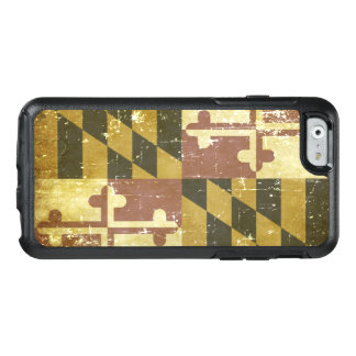 Worn Patriotic Maryland State Flag OtterBox iPhone 6/6s Case