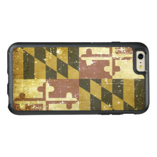 Worn Patriotic Maryland State Flag OtterBox iPhone 6/6s Plus Case