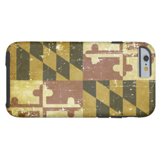 Worn Patriotic Maryland State Flag Tough iPhone 6 Case