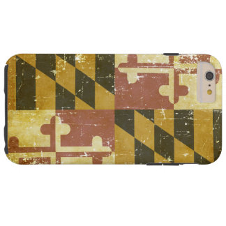 Worn Patriotic Maryland State Flag Tough iPhone 6 Plus Case