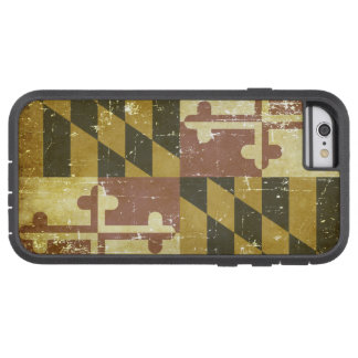 Worn Patriotic Maryland State Flag Tough Xtreme iPhone 6 Case