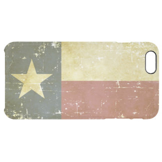 Worn Patriotic Texas State Flag Clear iPhone 6 Plus Case