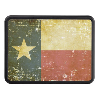 Worn Patriotic Texas State Flag Trailer Hitch Cover