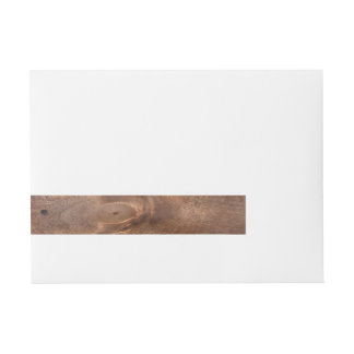 Worn pine board wraparound address label