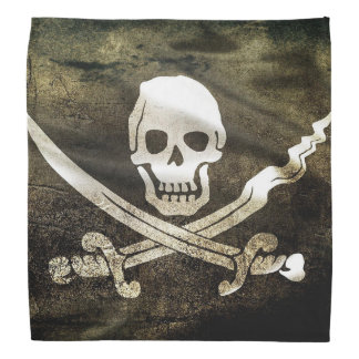 Worn Pirate Flag Bandana