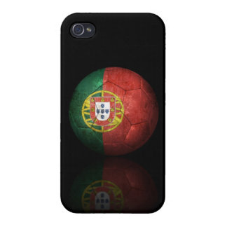 Worn Portuguese Flag Football Soccer Ball Cover For iPhone 4