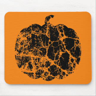 Worn Pumpkin Motif Mouse Pad