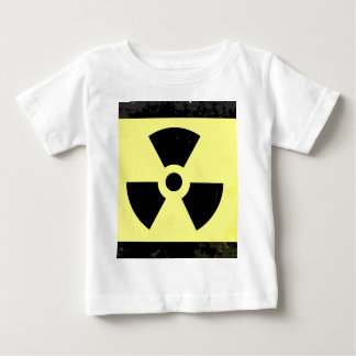 Worn Radioactive Warning Symbol Baby T-Shirt