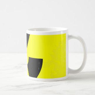 Worn Radioactive Warning Symbol Coffee Mug