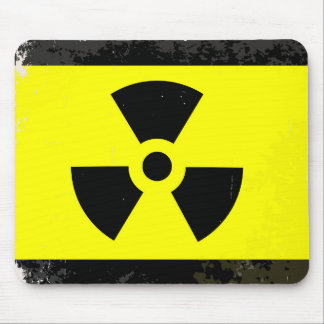 Worn Radioactive Warning Symbol Mouse Pad